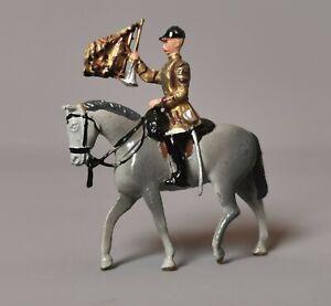 Vintage Britain's lead soldier, horseback cavalry, horn blower