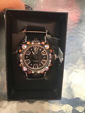 TENDENCE CRYSTAL ART Black WATCH 52MM