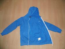 Mädchen blau Joggingjacke Trainigsjacke Kapuzenjacke Fleecejacke Sport Gr. 170