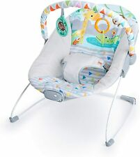 Bright Starts Babywippe Safari Fun mit Beruhigenden Vibrationen