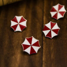 Resident Evil White Red Umbrella Breastpin Brooch Pin Badge Suit Buttons Decor