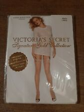 Victoria's Secret Signature Gold Collection Sheer  Stockings - White - Large NEW