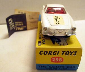 Corgi Toys 258 The Saint's Volvo P. 1800,  (2)    original