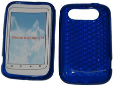 Pattern Soft Gel Jelly Case Protector Cover For HTC Wildfire S A510e G13 Blue UK
