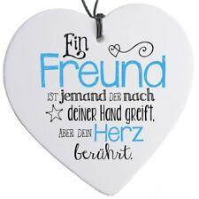 """Herz mit Spruch """"Ein Freund ist ..."""" - H 14 cm"""