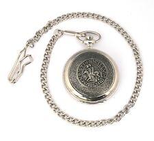 Templar Seal Pocket Quartz Watch Gift Boxed FREE ENGRAVING Masonic Gift 366