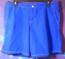Point Zero Ocean Mens Swim Trunks Board Shorts Bathing Suit Swimsuit Blue Large