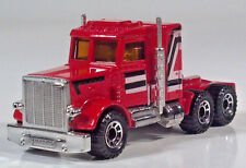 "Matchbox Superfast 1981 Lesney Peterbilt 3"" 1:80 Scale Semi Tractor Cab Red HTF"