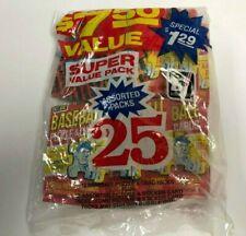 1982 Donruss Super Value 25 Pack Bag (13 Baseball 12 Assorted Picture/Sticker)