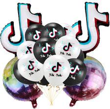tik tok tiktok music theme Birthday Party Decoration BALLOON supplies disco ball