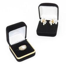 NYJEWEL Brand New 14K Yellow Gold Pearl Diamond Ring Earrings Set