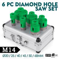 Coffret de Scie Cloche Diamant Kits Trépan de diamètre 20/25/40/45/50/68 mm+Lame