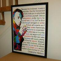 Christopher Hitchens Hitch Journalist Vanity Fair Poster Print Wall Art 18x24