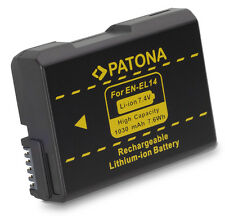 Patona Akku für Nikon D3100, D3200, D3300, D5100, D5200, D5300, D5500 - EN-EL14