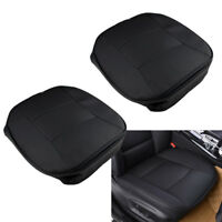 2X Universal PU Leather Deluxe 3D Car Cover Seat Protector Cushion Front Cover