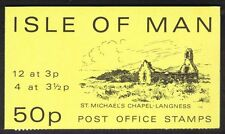Isle Of Man Postage Stamp Booklet Sachet 1974 St. Micheal's Chapel 50p SB7 MNH