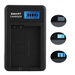 For OLYMPUS Li-50B 70B 90B BKI D-Li92 Camera Battery USB Charger LCD Display