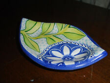Damariscotta Pottery 2012 Signed Red Earthenware Clay Maine Soap Dish Trinket