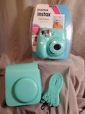 Fujifilm Instax Mini 7s Instant Camera Bundle Light Blue-Case-Film-Batteries-New