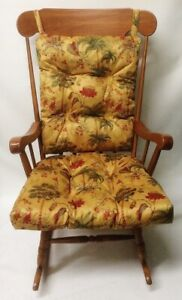 Indoor Outdoor Rocking Chair or Glider Cushion Set Palm Trees Over Sized Patio