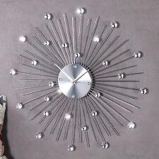 Wanduhr KüchenuhrDIAMOND SUN 50cm Design Accessoir mit Acryl Kristallen Uhr