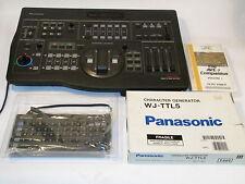 PANASONIC DIGITAL AV VIDEO MIXER WJ-AVE7 w WJ-TTL5 CHARACTER GENERATOR EXCELLENT