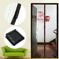 Black Magnetic MAGIC Insect Door Mesh Net Screen for Bug Mosquito Fly Curtain