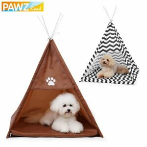 Cat Teepee Sleeping Tent House Navy Striped Playing Kennel For Puppy Kitty