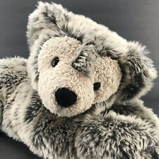 Disney Pre Duffy Plush Bear Frosted Gray Hidden Mickey Laying Down 17''