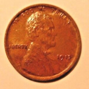 1915  LINCOLN CENT  AU HIGH GRADE VERY COLLECTIBLE