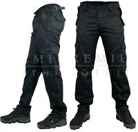 Mens Cargo Heavy Duty Work Trousers Combat Pockets Casual Pants Multi Pocket