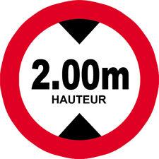 Sticker / autocollant : hauteur de passage maximum 2.00m - 10cm