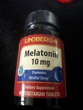 Mélatônine 10 mg / 60 C .100%  Naturelle . Exp en 2023 -Vendu en France