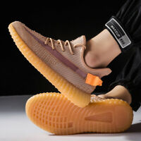 Men's Breathable Flyknit Sneakers Sports Running Shoes Outdoor All-match Casual