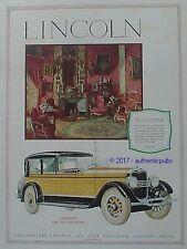 PUBLICITE LINCOLN AUTOMOBILE CABRIOLET PAR MILLION GUIET DE 1926 AD PUB ART DECO