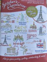 Stitcher's Revolution AROUND THE WORLD Travel Embroidery Transfer Pattern SR13