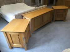 Mark Wilkinson solid oak bedside cabinets and bedding box in excellent condition
