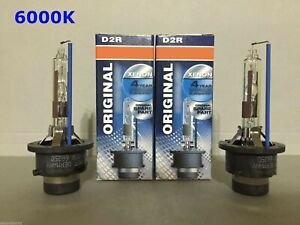 2PCS NEW D2R 66050 66250 6000K OEM HID XENON LIGHT BULBS SET HEADLIGHTS
