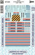 HO Scale Microscale 87-525 Amtrak Phase III Amfleet Passenger Cars Decal Set
