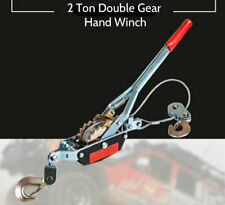 2 Ton Heavy Duty Double Gear Hand Puller Winch Lifting Pulling Boating Tool NEW