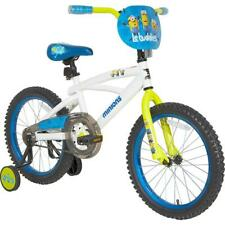 Kids Bike Bicycle Adjustable Training Wheels Seat Despicable Me Minions 18""