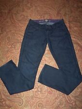 RICH & SKINNY Sleek Petite/Jr's sz 25W-29L  Dark Blue Logo Jeans in EUC