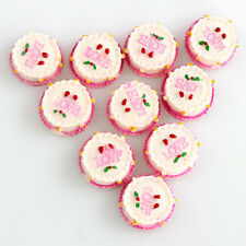 DIY Cabochons Crafts Flower Strawberry Cake Resin Flatback Scrapbooking  WILL