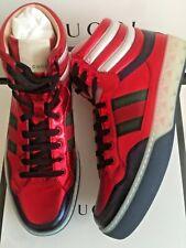 2f2a1000ade Gucci Men s Red Leather Metallic Hi Top Sneakers 9.5G 10.5US - NIB w
