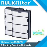 2pk Hapf600 Replacement Hepa+ Filter B for Holmes & Bionaire HAPF600D-U2 HRC1