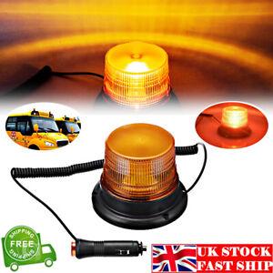 12V LED Car Strobe Beacon Emergency Alarm Warning Flashing Light Amber Lamp UK