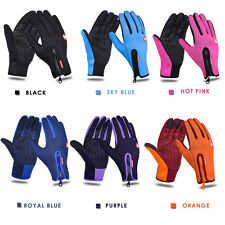 Touchscreen Cotton Gloves Winter Warm  Bicycle Bike Ski Silica Waterproof Hiking