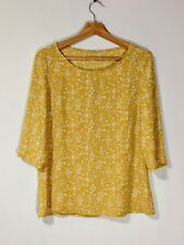 Three Quarter Sleeved Blouse in a Dark Yellow Fabric by 'Unbranded'