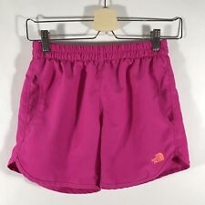 The North Face Youth Girl's Large L Shorts Mesh Lining Pink EUC