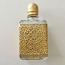 Gold Gilt Filigree Encased Perfume Bottlet Metal Screw Top Nordstrom Italy Euc